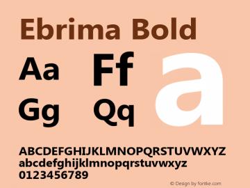 Ebrima Bold Version 5.04 Font Sample