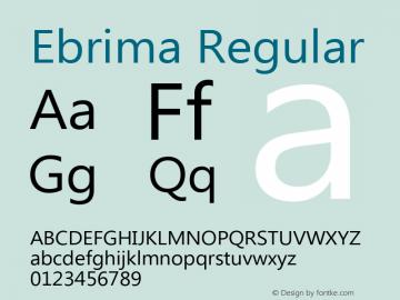 Ebrima Regular Version 5.05 Font Sample