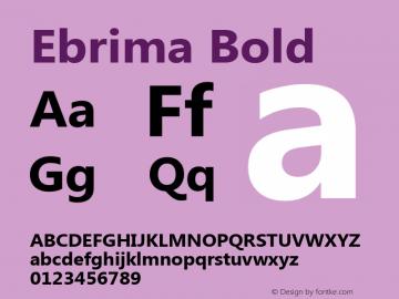 Ebrima Bold Version 5.05 Font Sample
