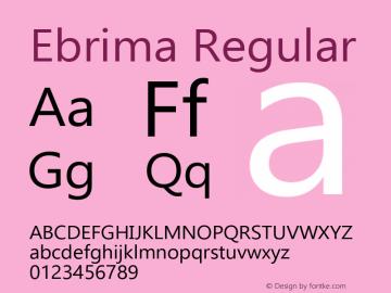 Ebrima Regular Version 5.06 Font Sample