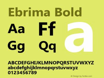 Ebrima Bold Version 5.08 Font Sample