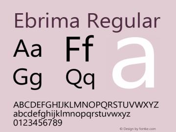 Ebrima Regular Version 5.08 Font Sample