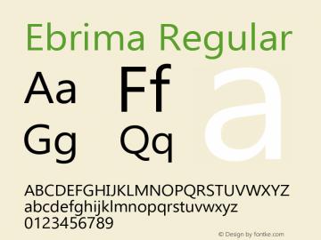 Ebrima Regular Version 5.09 Font Sample