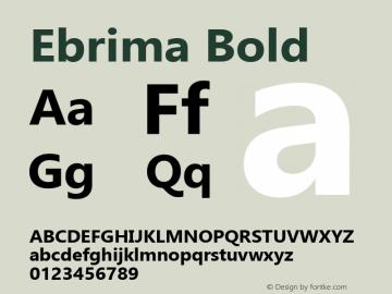 Ebrima Bold Version 5.09 Font Sample