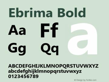 Ebrima Bold Version 5.10 Font Sample