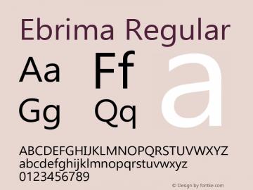 Ebrima Regular Version 5.10 Font Sample