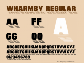 Wharmby Regular Altsys Metamorphosis:4/10/92 Font Sample