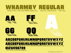Wharmby Regular Converted from f:\x\WHARMBY.TF1 by ALLTYPE Font Sample