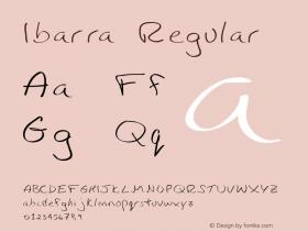 Ibarra Regular Version 1.002 Font Sample