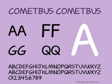 Cometbus Cometbus Version 1.000 Font Sample
