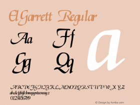 ElGarrett Regular Altsys Fontographer 3.5  7/1/92 Font Sample