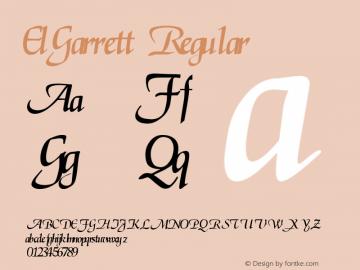 ElGarrett Regular Altsys Fontographer 3.5  7/1/92 Font Sample