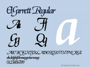 ElGarrett Regular Altsys Fontographer 3.5  3/29/92 Font Sample