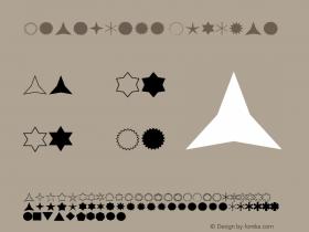 Starburst Regular Altsys Fontographer 3.5  7/2/92 Font Sample