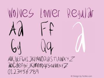 Wolves Lower Regular 6/6/97 revision 0 Font Sample