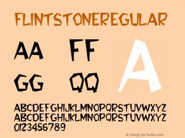 FlintStone Regular Converted from F:\TTF\FLINT___.TF1 by ALLTYPE Font Sample
