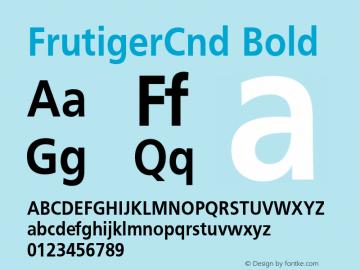 FrutigerCnd Bold 001.000 Font Sample