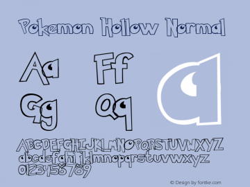 Pokemon Hollow Normal Unknown Font Sample