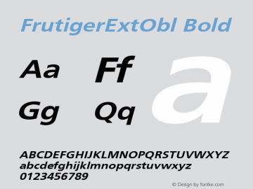 FrutigerExtObl Bold 001.000 Font Sample