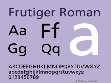 Frutiger Roman 001.000 Font Sample