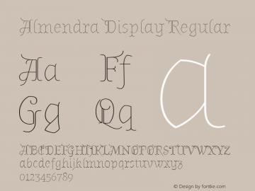 Almendra Display Regular Version 1.003 Font Sample