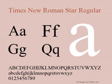 Times New Roman Star Regular MS core font:V1.00 Font Sample