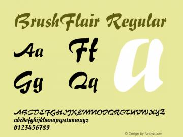 BrushFlair Regular Macromedia Fontographer 4.1.5 5/17/98 Font Sample
