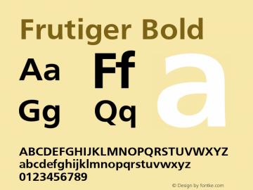 Frutiger Bold 001.000 Font Sample