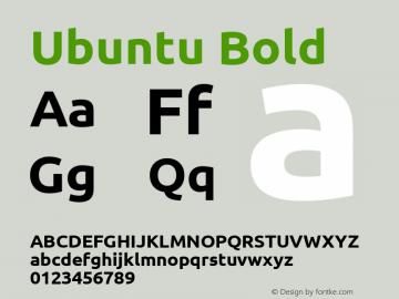 Ubuntu Bold Version 0.80 Font Sample