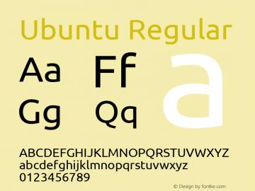 Ubuntu Regular Version 0.69 Font Sample