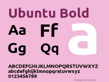 Ubuntu Bold Version 0.68 Font Sample