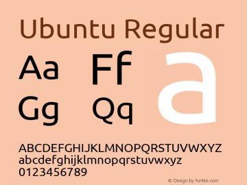 Ubuntu Regular Version 0.71 Font Sample
