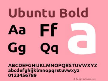 Ubuntu Bold Version 0.71 Font Sample