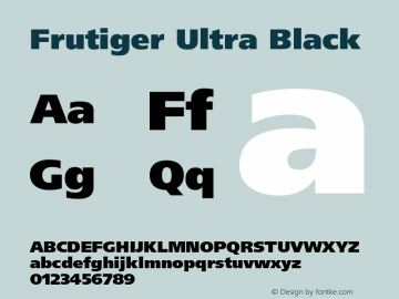 Frutiger Ultra Black 001.000 Font Sample