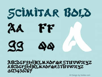Scimitar Bold The IMSI MasterFonts Collection, tm 1995, 1996 IMSI (International Microcomputer Software Inc.) Font Sample