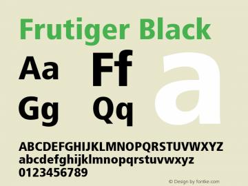 Frutiger Black 001.000 Font Sample