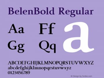 BelenBold Regular Macromedia Fontographer 4.1.5 7/29/02图片样张