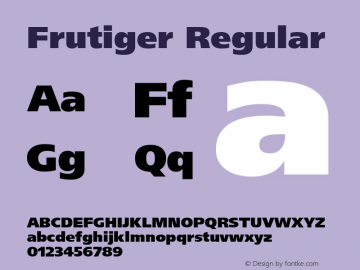 Frutiger Regular 001.001 Font Sample