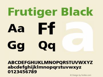 Frutiger Black Macromedia Fontographer 4.1 9/19/98 Font Sample