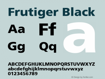 Frutiger Black 001.001 Font Sample