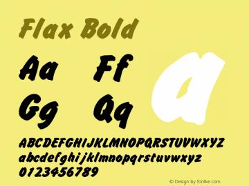 Flax Bold April 6, 1992; 1.00图片样张