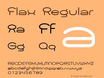 Flax Regular Macromedia Fontographer 4.1J 09.8.17图片样张