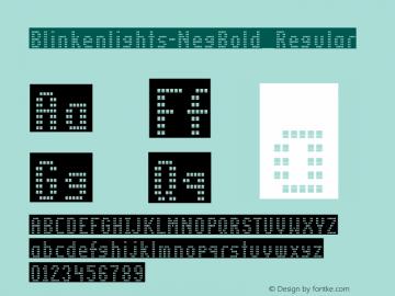 Blinkenlights-NegBold Regular OTF 1.000;PS 1.00;Core 1.0.34图片样张