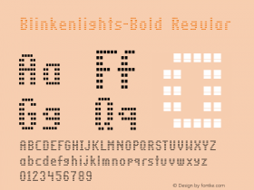 Blinkenlights-Bold Regular Version 1.00; 2002; initial release图片样张