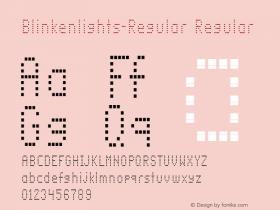 Blinkenlights-Regular Regular Version 1.00; 2002; initial release图片样张