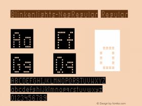 Blinkenlights-NegRegular Regular Version 1.00; 2002; initial release图片样张