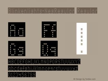 Blinkenlights-NegRegular Regular OTF 1.000;PS 1.00;Core 1.0.34图片样张