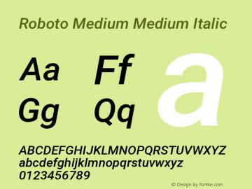 Roboto Medium Medium Italic Version 2.001047; 2014图片样张