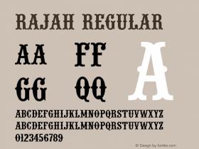 Rajah Regular Version 001.005图片样张