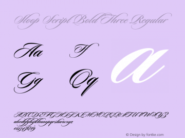 Sloop Script Bold Three Regular Macromedia Fontographer 4.1 16.05.2003图片样张